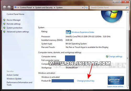 تغییر windows-7-product-key-on-windows-system