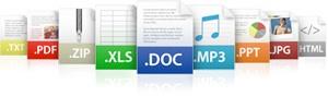 filetype-فرمتهای رایج