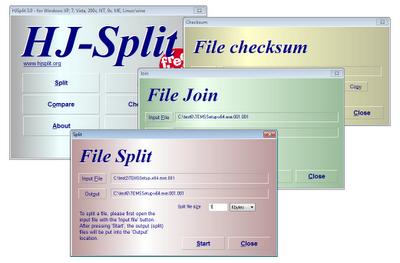 تقسیم یك فایل به چند بخش - ادغام چند فایل